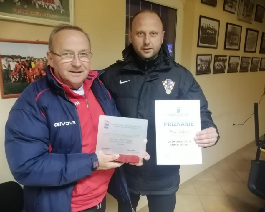 Sportska Hrvatska Pozeski nogometni trener Milan Tomljenovic dobio nagradu za zivotno djelo od Sportske
