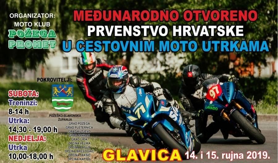 Sportska Hrvatska Na Glavici se ovog vikenda odrzava Medunarodno otvoreno prvenstvo Hrvatske u cestovnim moto utrkama.