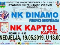 Dinamo domaćin Kaptolu, Croatia Omladincu, a Požega gostuje u Buku u 19. kolu 1. Županijske nogometne lige