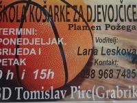 Ženski košarkaški klub Plamen Požega organizira Školu košarke za djevojčice