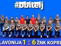 Igračice ŽNK Slavonija u 1. kolu 2. HNLŽ - skupina B poražene od ŽNK Koprivnica