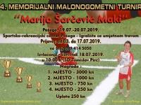 """Počele prijave za 4. Malonogometni turnir """"Marijo Šarčević - Maki"""" koji će se održati 19. i 20. 07. 2019."""