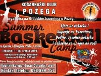 Košarkaški klub Požega organizira besplatni ljetni košarkaški kamp za djevojčice i dječake rođene 2007. i mlađe
