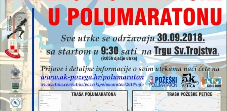 Prvenstvo Hrvatske u polumaratonu održat će se u nedjelju, 30. rujna u Požegi