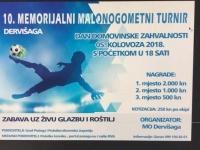 U nedjelju, 05. 08. 2018. u Dervišagi će se održati jubilarni, 10. Memorijalni malonogometni turnir za poginule i preminule branitelje