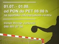Ljetna Škola rukometa od 01. 07. do 01. 08. na Sportsko - rekreacijskom centru