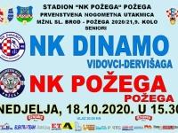 Utakmica Dinamo (Vidovci) - Požega igrat će se ipak na Igralištu NK Požega, u nedjelju, 18. listopada u 15,30 sati