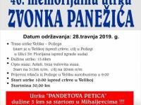 46. Memorijal Zvonka Panežića održat će se u nedjelju, 28. 04. 2019.