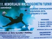 U nedjelju, 04. 08. 2019. u Dervišagi će se održati 11. Memorijalni malonogometni turnir za poginule i preminule branitelje