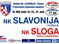 Slavonija sutra (srijeda, 15. 05. 2019.) s početkom u 17,00 sati dočekuje Slogu (Nova Gradiška)